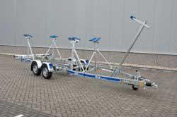 Kalf M serie geremde tandemas kielboottrailers