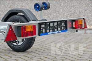 Jetski boottrailer Kalf Basic 550-45 achterlichtbalk met achterlichtunits
