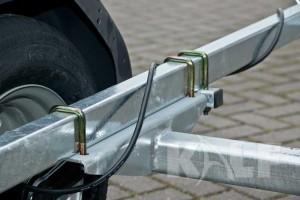 Jetski boottrailer Kalf Basic 550-45 aspad met kabel rond frame