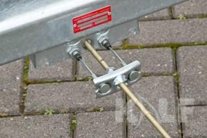 Kielboottrailer Kalf Basic 1300-62 boottrailer remstang met kabels