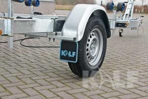 Kielboottrailer Kalf Basic 1800-62 boottrailer enkelas wiel met spatbord