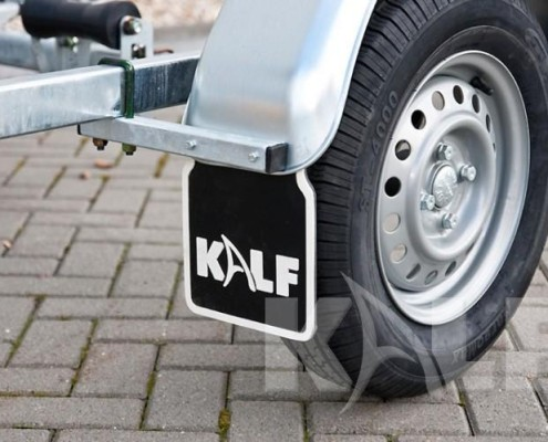 Rubberboot trailer Kalf D 600-45 metalen spatbord