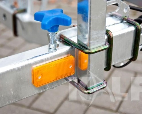 Rubberboot trailer Kalf L 750-55 gele markering reflector