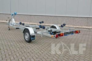 Sloeptrailer Kalf basic 1050-57 boottrailer achteraanzicht