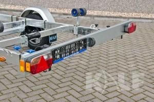 Sloeptrailer Kalf basic 1300-62 boottrailer lichtbalk