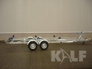 Sloeptrailer Kalf basic 2700-72 boottrailer zijaanzicht