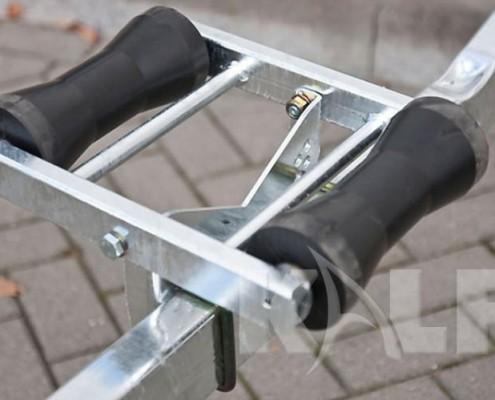 Kalf sloeptrailer M 1800-57 rubberen kielrollen