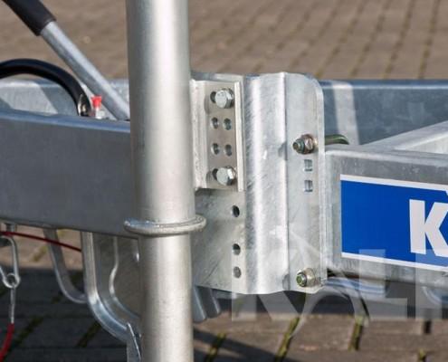 Sloeptrailer Kalf S 3500-120 constructie van verstelbaar neuswiel